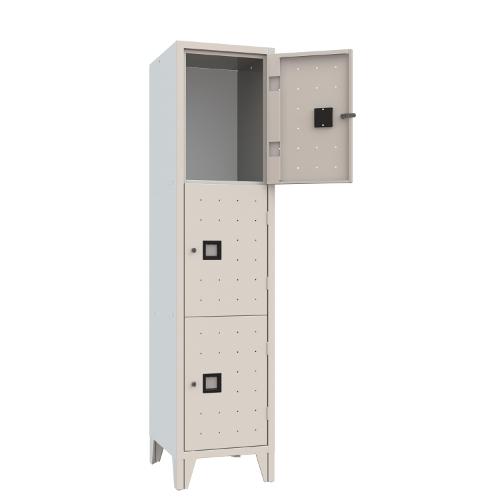 Armet Quadro 273 3 compartment locker