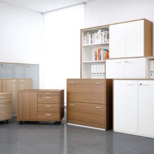 Office storage cabinets and pedestals I Quadrifoglio