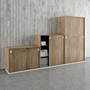 Melamine office storage cabinets I Quadrifoglio
